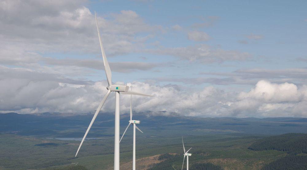 Googe skal kjøpe svensk vind for å drive sitt finske datasenter. Bildet er fra Brahehus vindpark, utenfor Jönköpings.