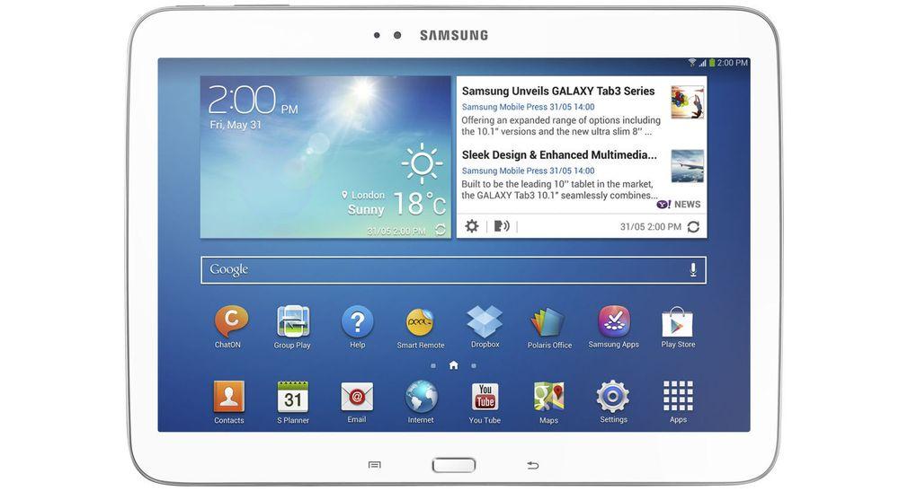 Samsung Galaxy Tab3 10.1 er selskapets første Android-baserte nettbrett med Intel-prosessor.