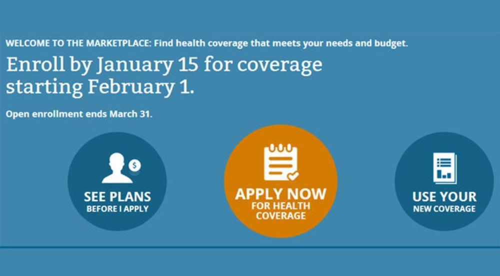Nettstedet HealthCare.gov skal tilby påbudt helseforsikring til innbyggere i 36 delstater i USA.