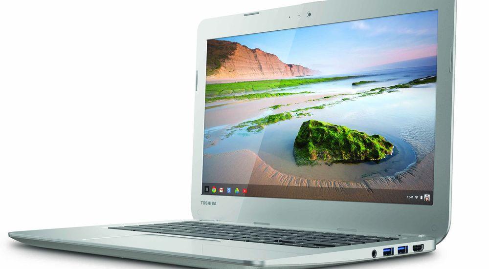 Toshiba er blant selskapene som kommer med nye Chromebooks i år, blant annet denne modellen med 13,3 tommers skjerm.