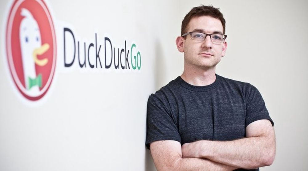Gründer Gabriel Weinberg kan glede seg over kraftig vekst for sin alternative søkemotor med det pussige navnet DuckDuckGo.