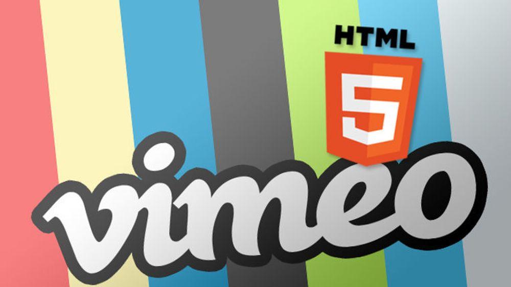 Kjappere, minst like funksjonsrik og uten krav til ekstra programvare. Vimeo ramser bare opp fordeler med sin nye HTML5-satsing. Et mulig ankepunkt er manglende støtte for kopilås (DRM), men slikt innhold tilbyr Vimeo uansett ikke.