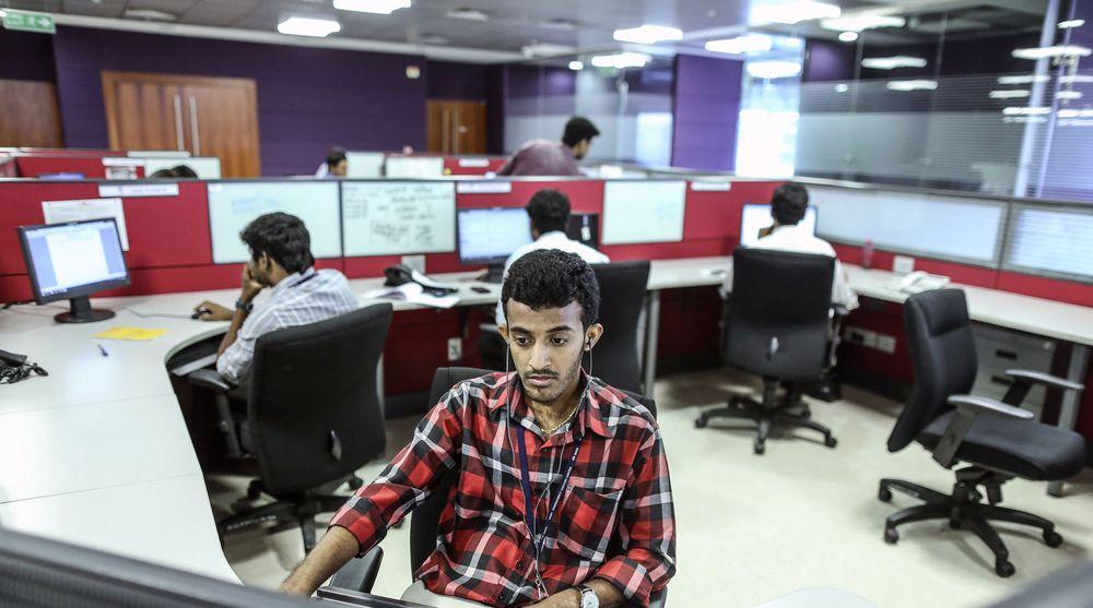 En Tata-ansatt jobber fra kontoret i Chennai. Nå får indiske IT-ansatte enda en norsk kunde: DNB.