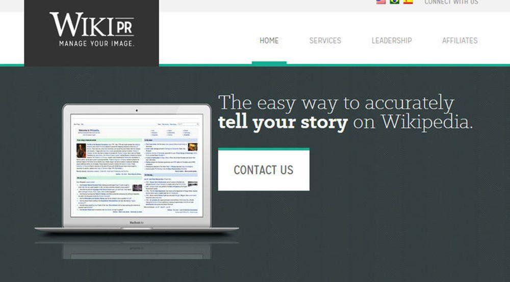 Wiki-PR forsøker ikke i særlig grad å skjule hvilke Wikipedia-relaterte tjenester selskapet tilbyr.