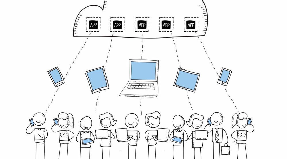 Slik illustrerer Amazon selskapets AppStream-tjeneste i en video. Applikasjonene kjøres i nettskyen og strømmes ned til brukerens klientenhet.