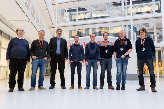 Det stolte Oslo-teamet i Forskningsparken. Mange av de ansatte i Vivaldi er tidligere Opera-veteraner.