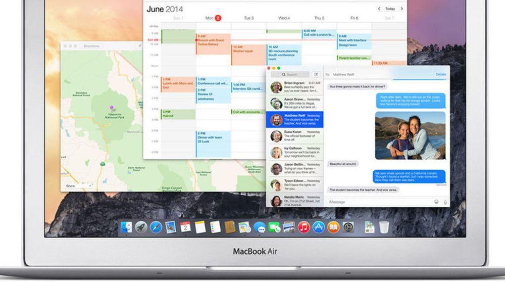 Google Project Zero-teamet også avslørt sårbarheter i Apples programvare, her representert med OS X-utgaven Yosemite, før Apple har fått fjernet dem. Det skjedde i fjor høst, og på nytt denne uken.