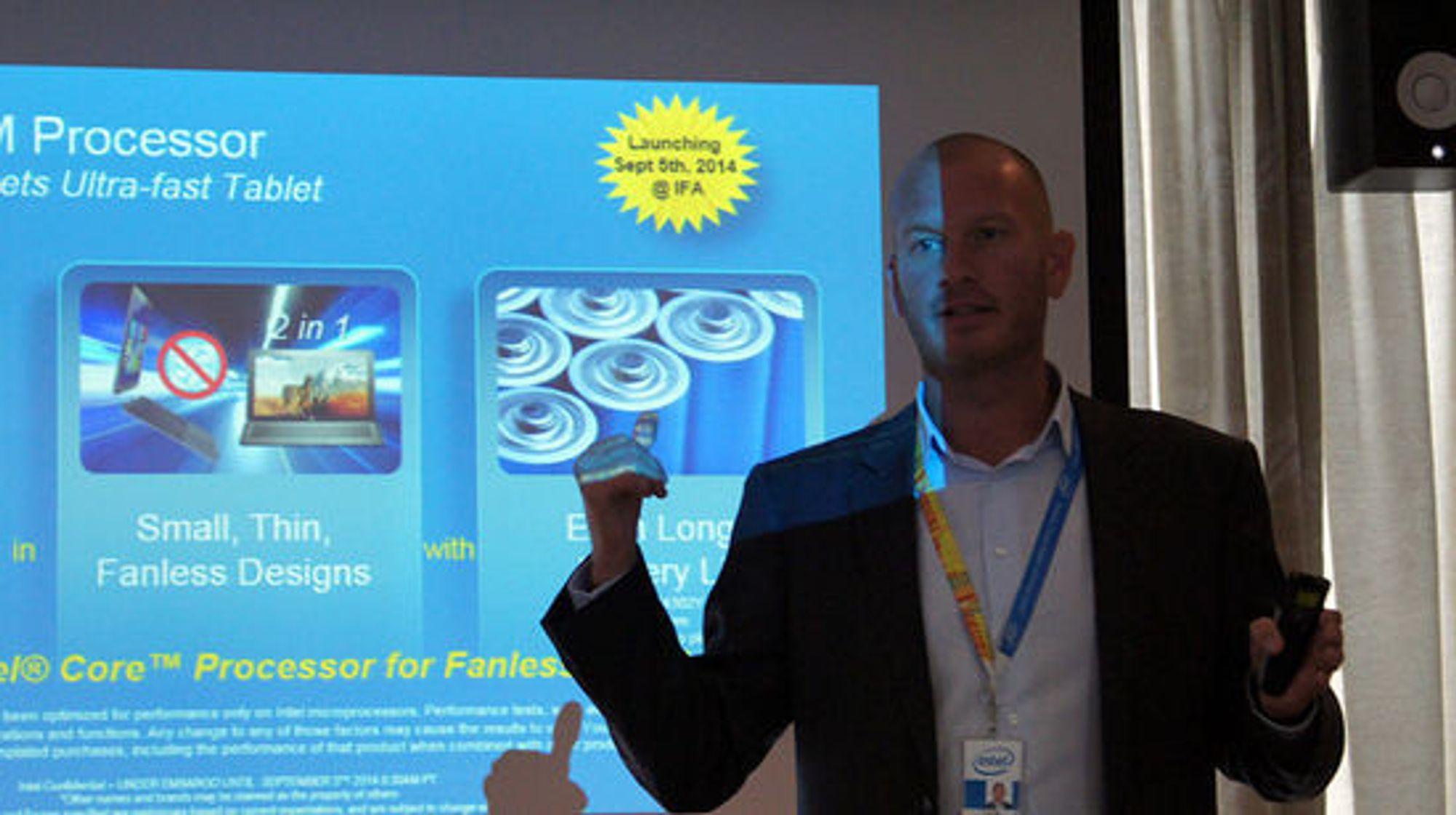 Vifteløst er et viktig stikkord for Intels Thor Dahlstedt.