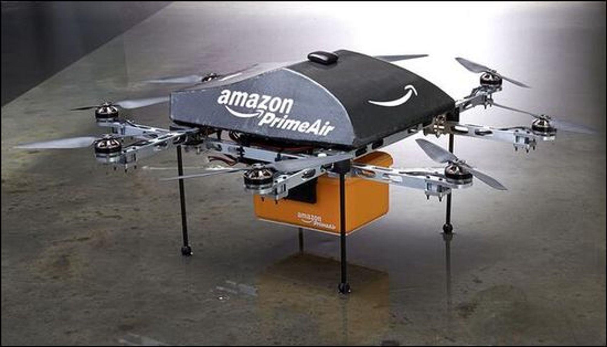 Amazon vil levere pakker med selskapets PrimeAir-droner.