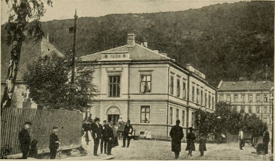 Bilde av Oslo Hospital, fra boken Glimpses of medical Europe, utgitt i 1908.