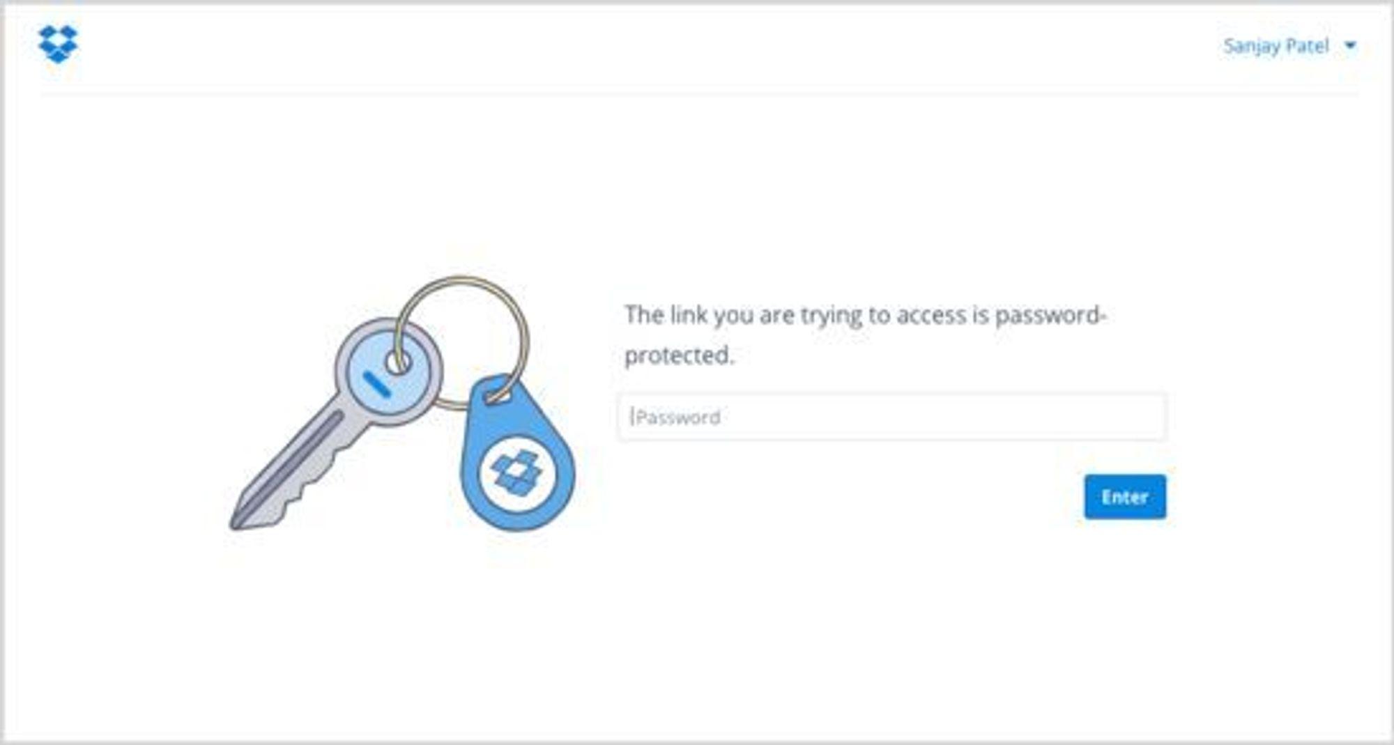 Passordbeskyttelse av lenker er en av de nye funksjonene.