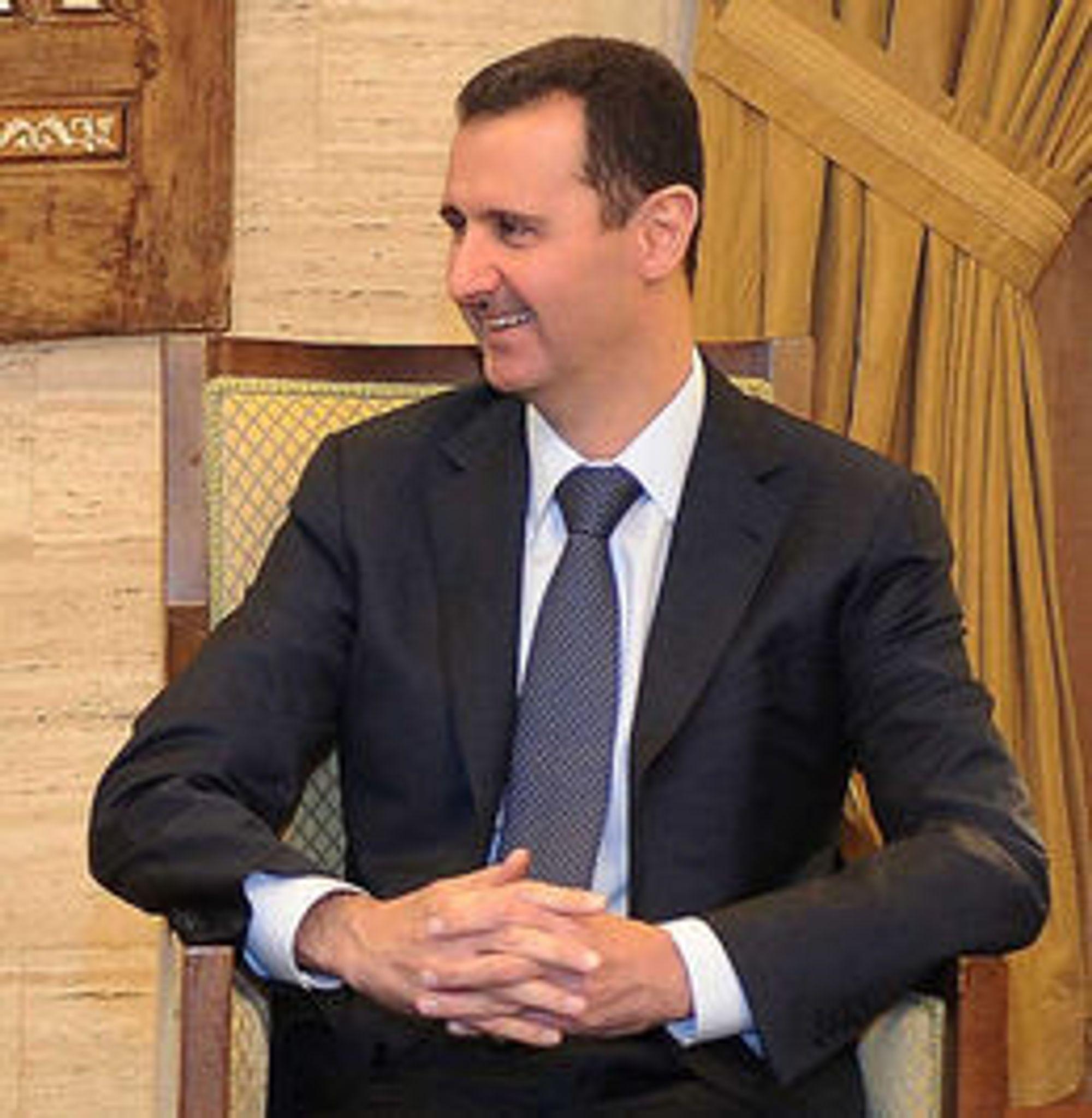 DIKTATOR UTEN NETT: Flere mente det var Syrias president Bashar al-Assad (bildet) eller regimet hans som hadde beordret blokkering av landets internett- og mobilforbindelse. Feil, det var USA som forsøkte å hacke en kjerneruter, hevder Edward Snowden i et ferskt intervju.
