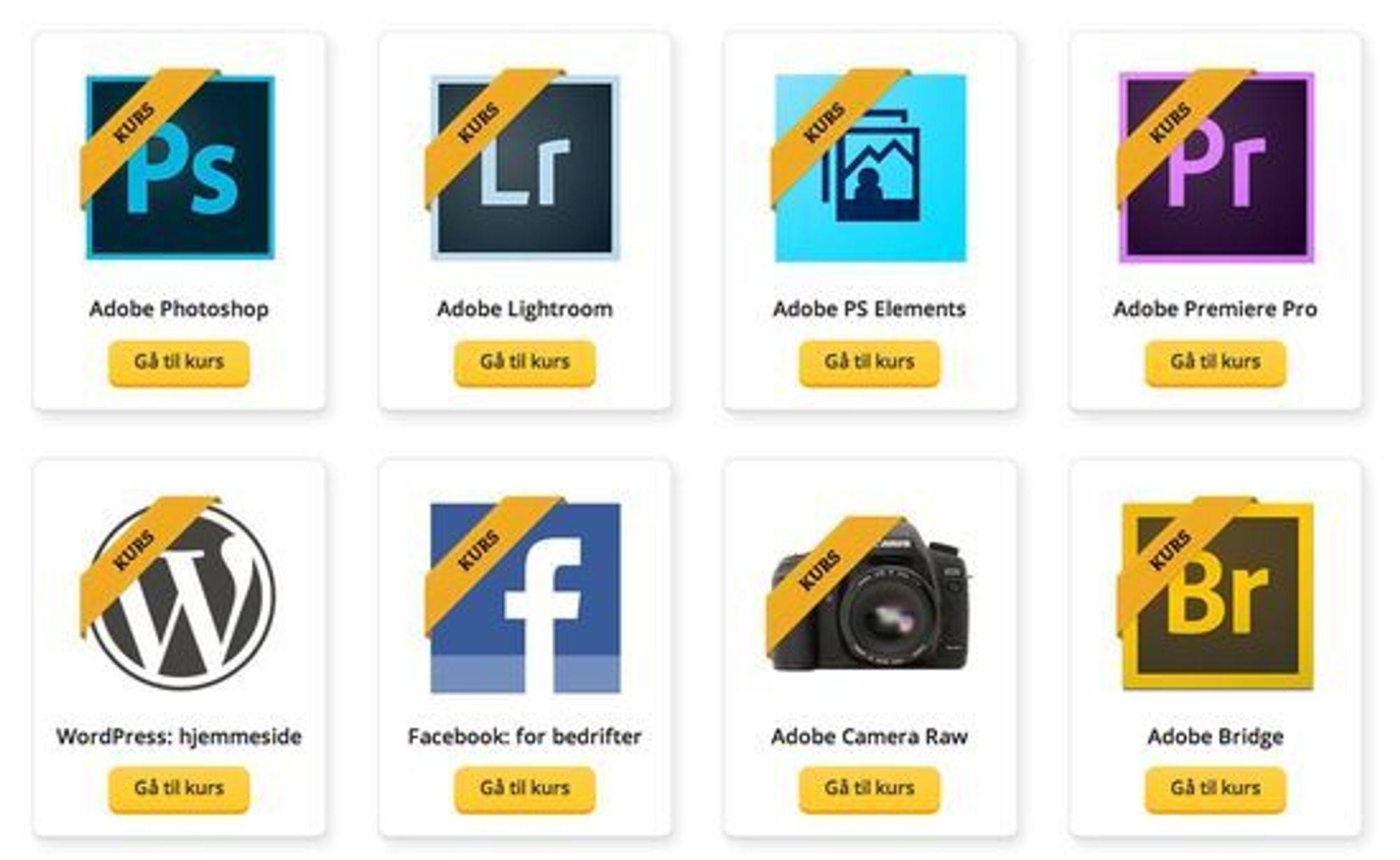Utdannet.no spesialiserer seg på Adobe-programmer, men tilbyr også andre typer kurs.