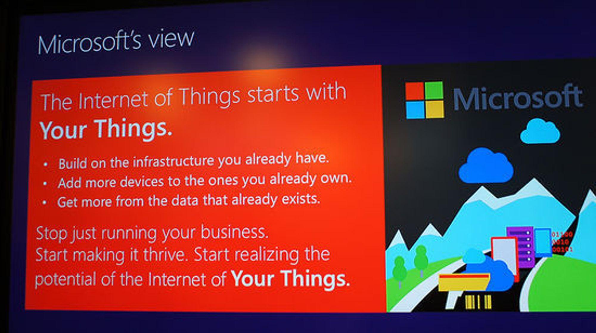 Det handler om dine ting først, sier Microsoft.