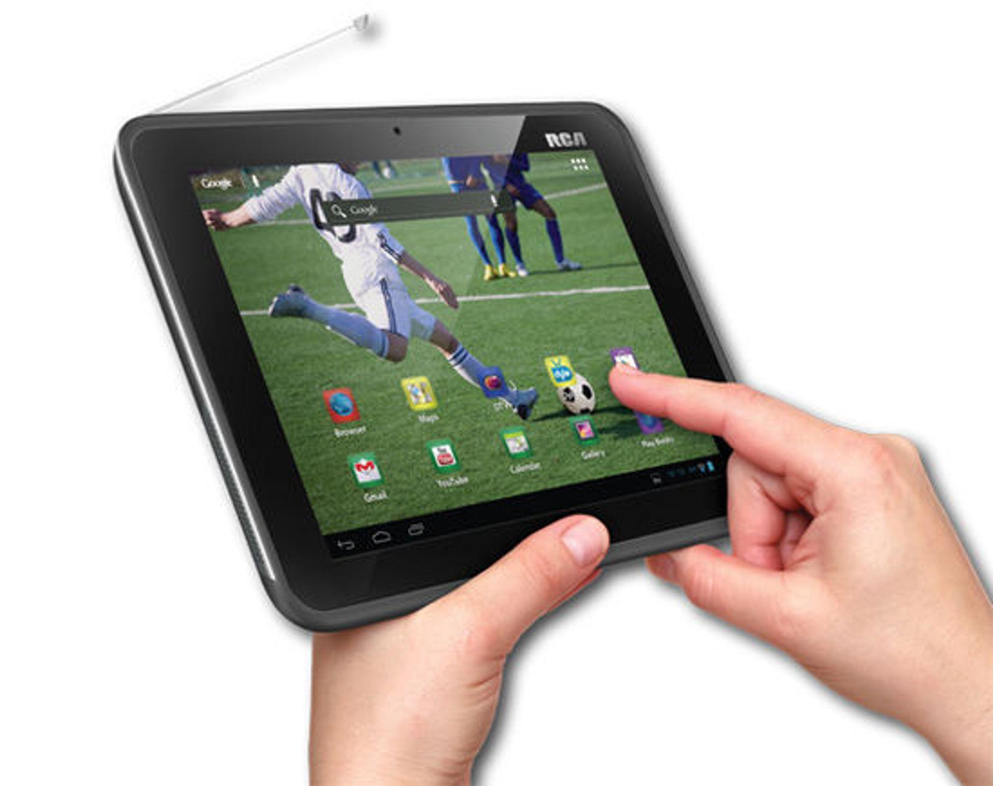 For 200 dollar får man kjøpt et Android-basert RCA-nettbrett med tv-mottaker og åtte tommers skjerm. Men det er flere år siden nettbrettets maskin- og programvare kunne kalles for oppdatert og moderne.