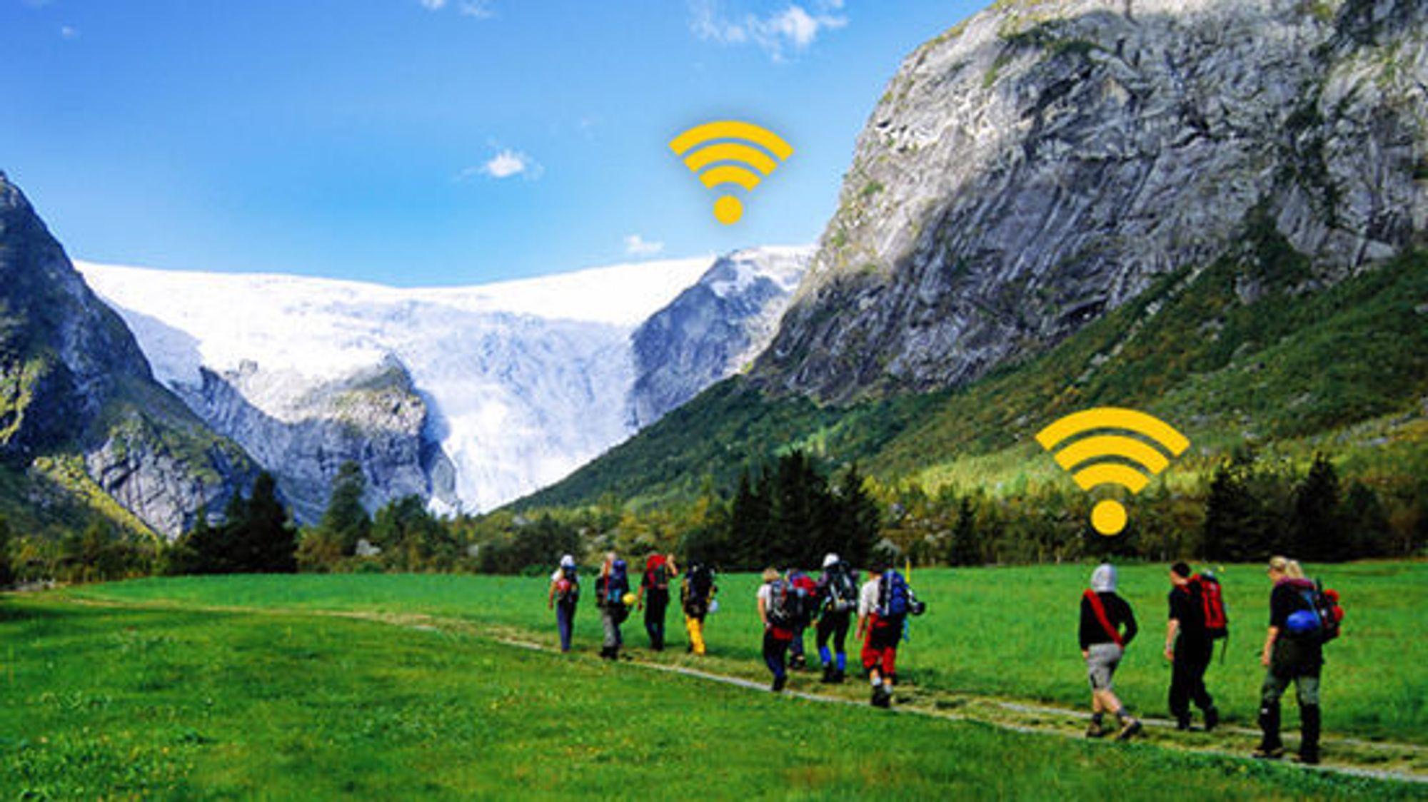 Ice.net lover mobilt bredbånd også på høye fjell og i dype daler.