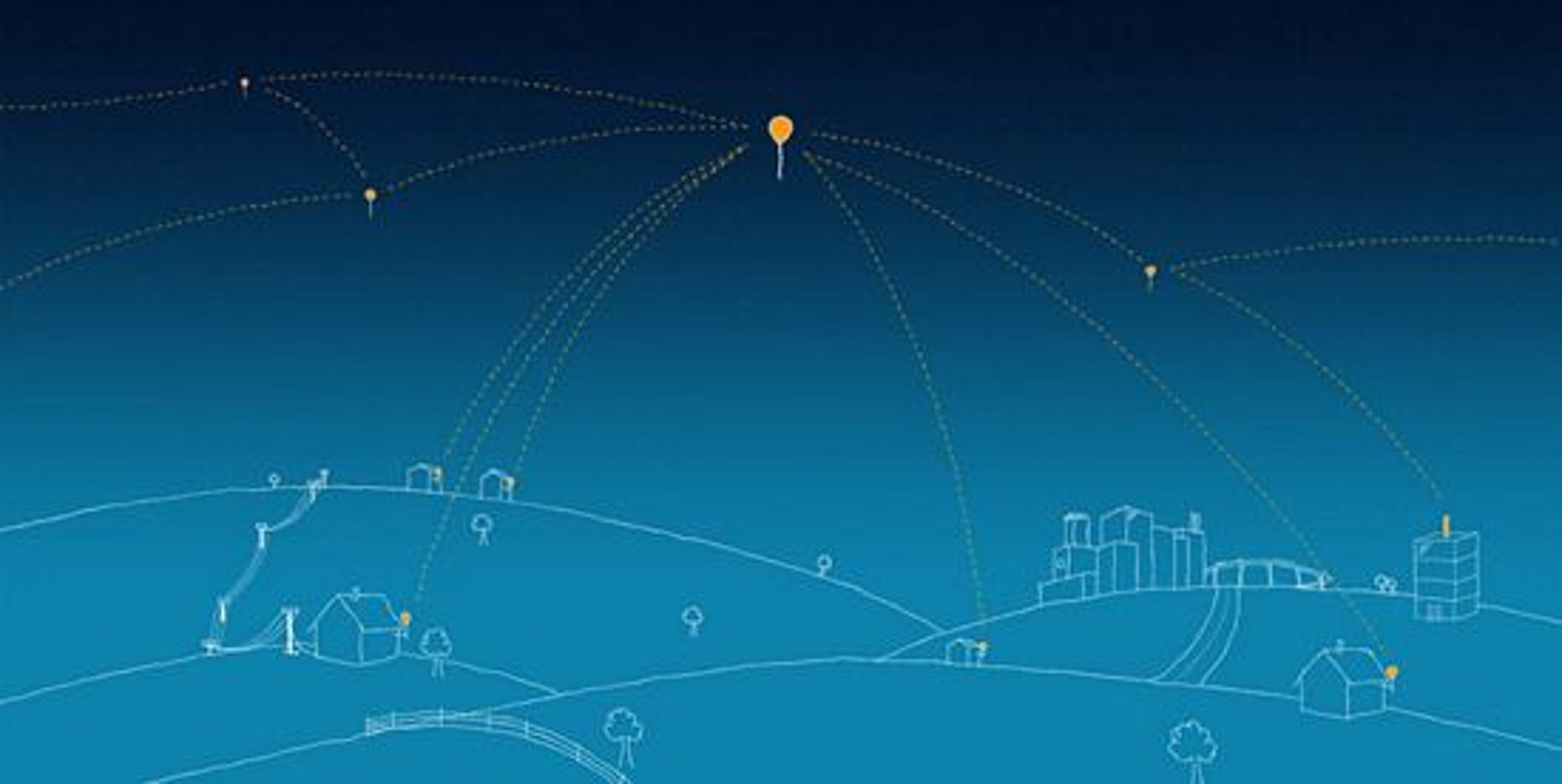 Ballonger, brukere og internettilbyder står i et radionettverk med dedikerte frekvenser. Antennene må være utvendige. Fra tilbyderantennen på høyhuset til høyre sendes også styringssignaler til hver ballong.
