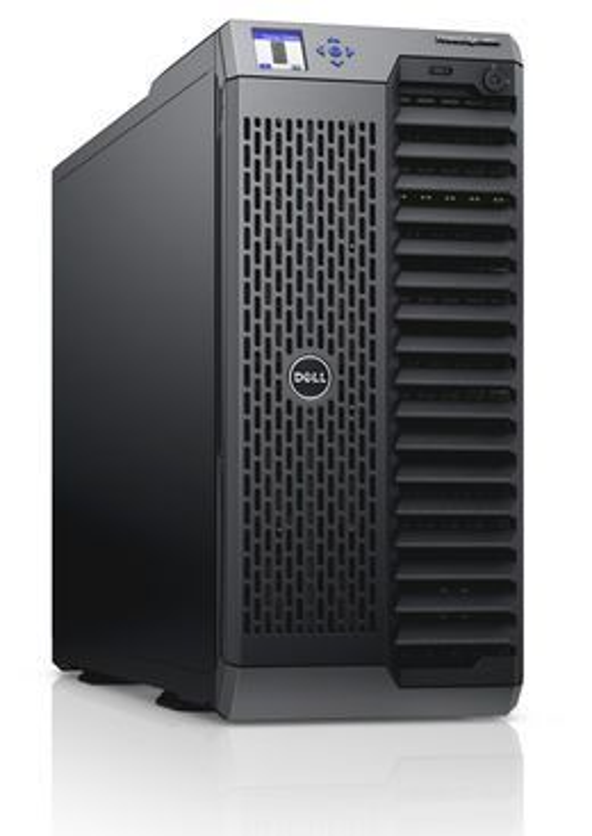 Hver M620-server i VRTX kan ha opptil 8 prosessorkjerner (Xeon E5-2600) og opptil 768 gigabyte minne.