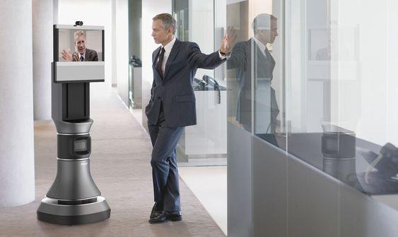 Den som (fjern)styrer roboten kan alltid stanse for å slå av en prat.