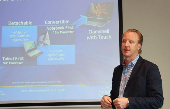 Andres Huge i Intel mener at de nye Core-prosessorene vil åpne for pc-er med nye formfaktorer.