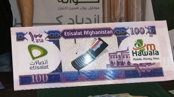 I Afghanistan gir Hawala-tjenesten til mobiloperatøren Etisalat tilgang til den digitale økonomien.
