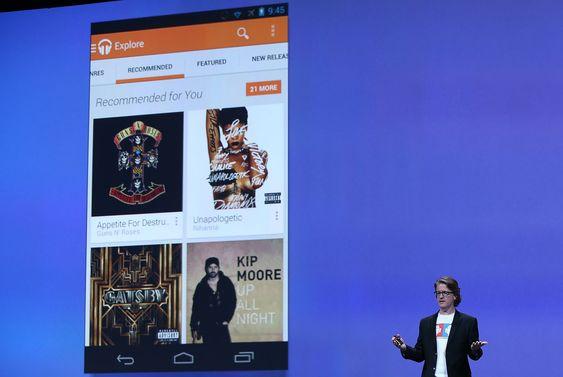 Chris Yerga, teknologidirektør for Android, lanserte den nye Google Play Music All Access-tjenesten under Google I/O 2013