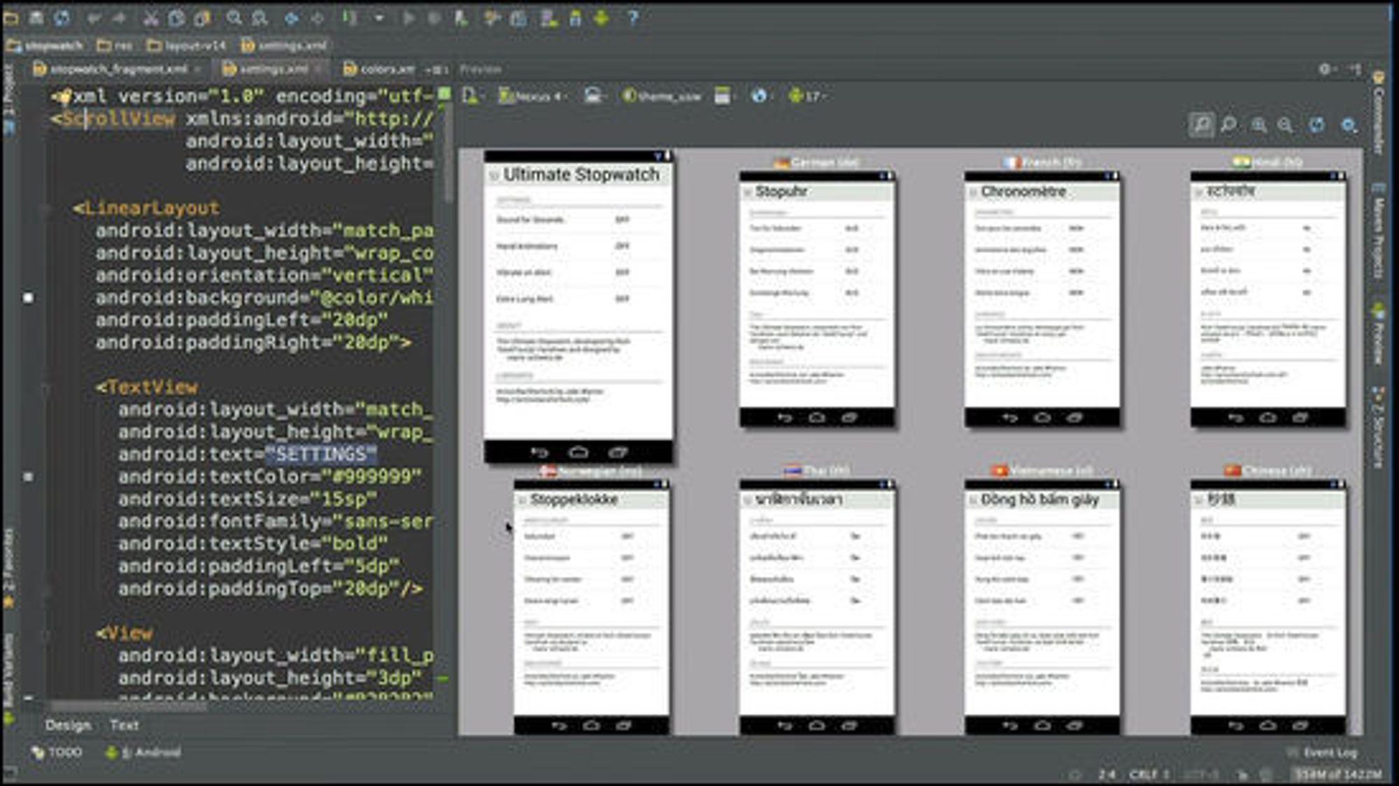 Tilpasning av språk i Android-applikasjoner skal være enklere med Android Studio.