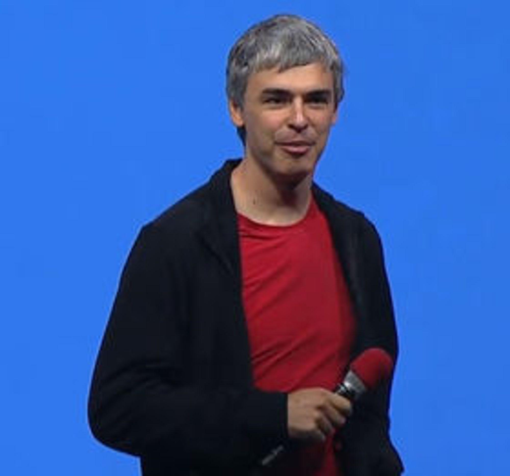 Larry Page avsluttet hovedtalen med å svare på spørsmål fra en rekke av konferansedeltakerne.