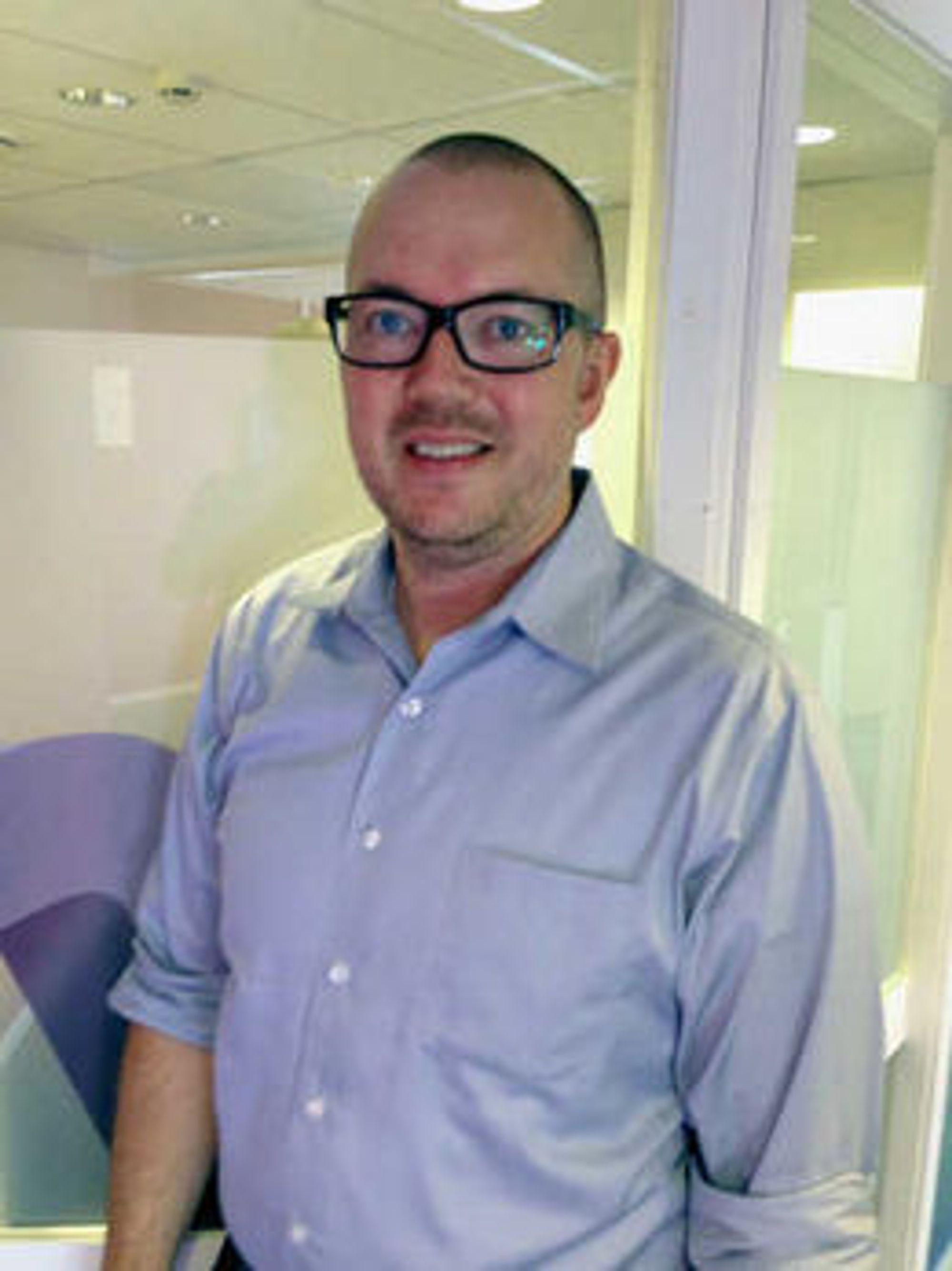 FORNØYD: Dataess-sjef Bjørn Deverill gleder seg over tilsagn fra Skatteetaten.