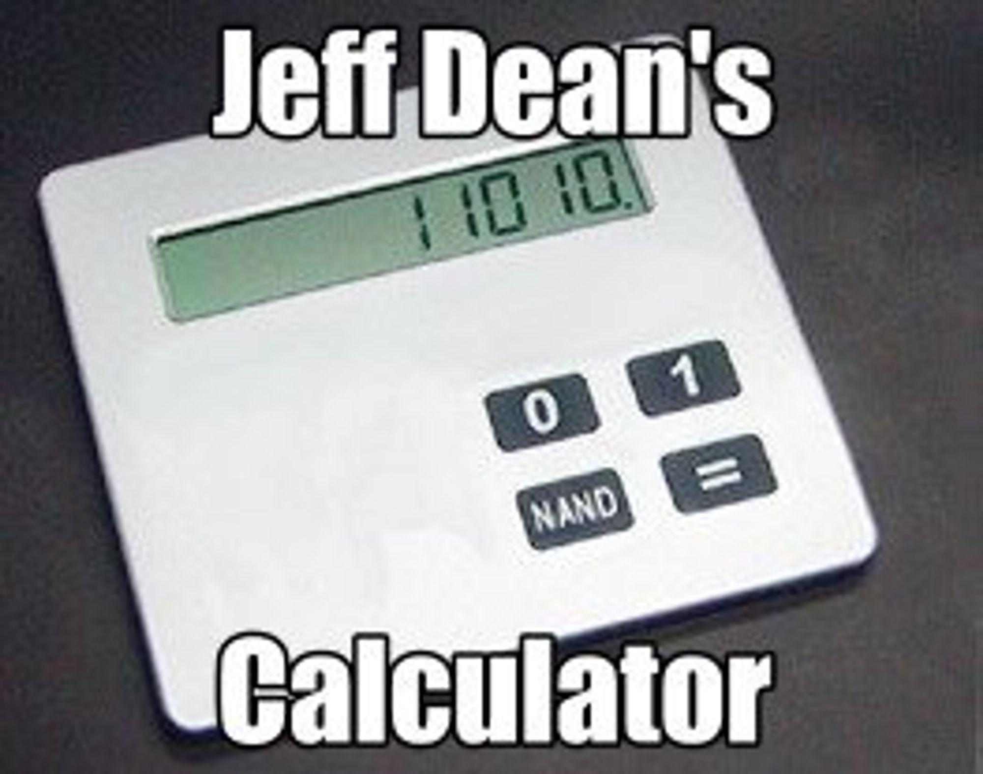 Egentlig trenger ikke Jeff kalkulator. Denne bruker han bare for å brife.