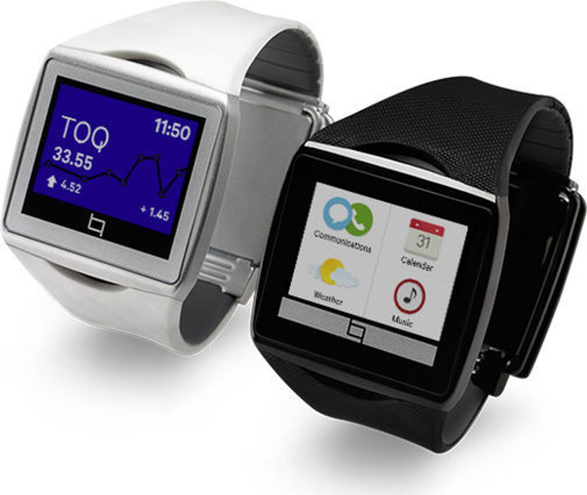 Qualcomm Toq tar i bruk helt annen skjermteknologi enn de to andre smarturene som ble vist fram i går.