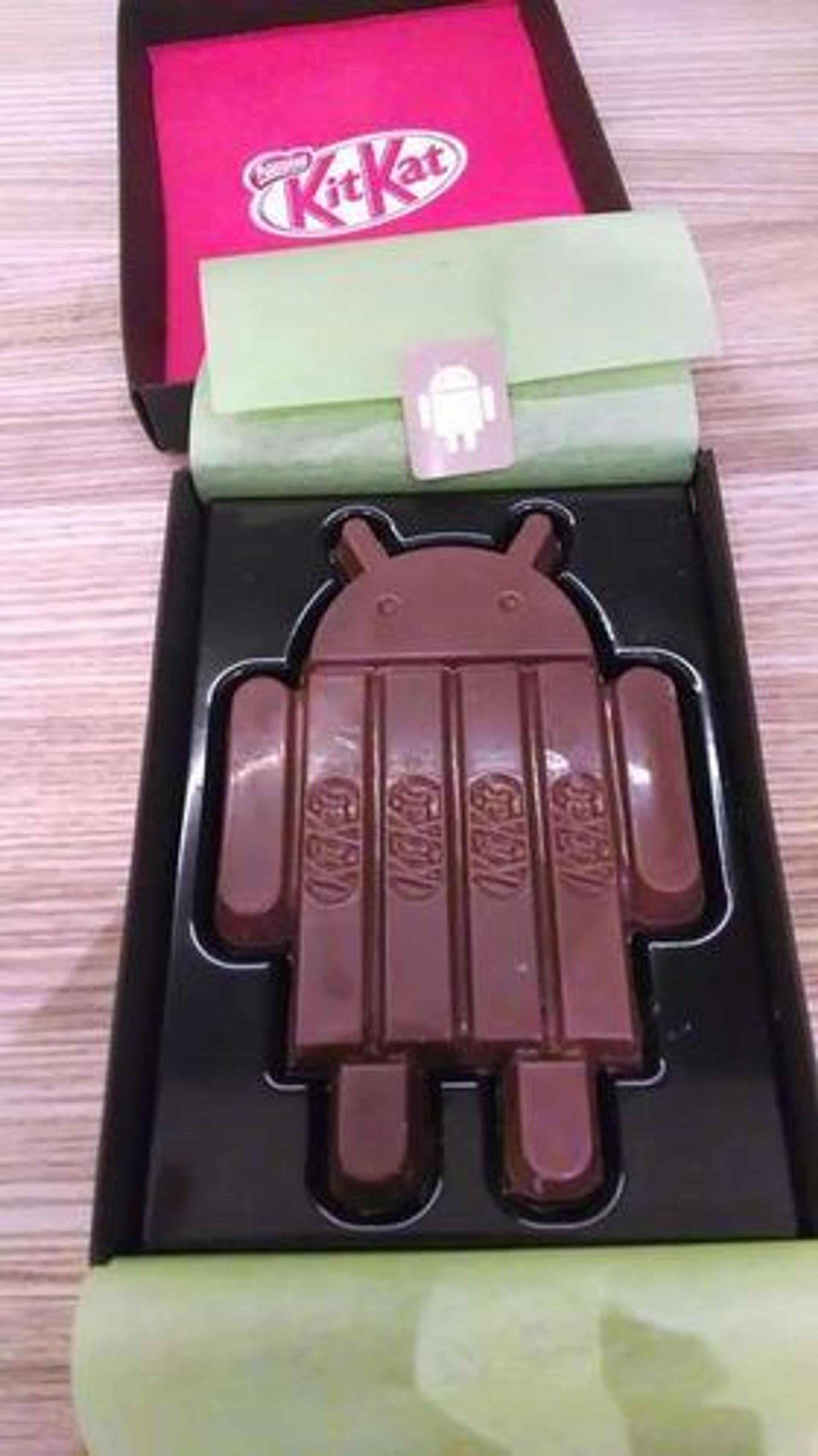 Android-utgaven av KitKat-sjokoladen.