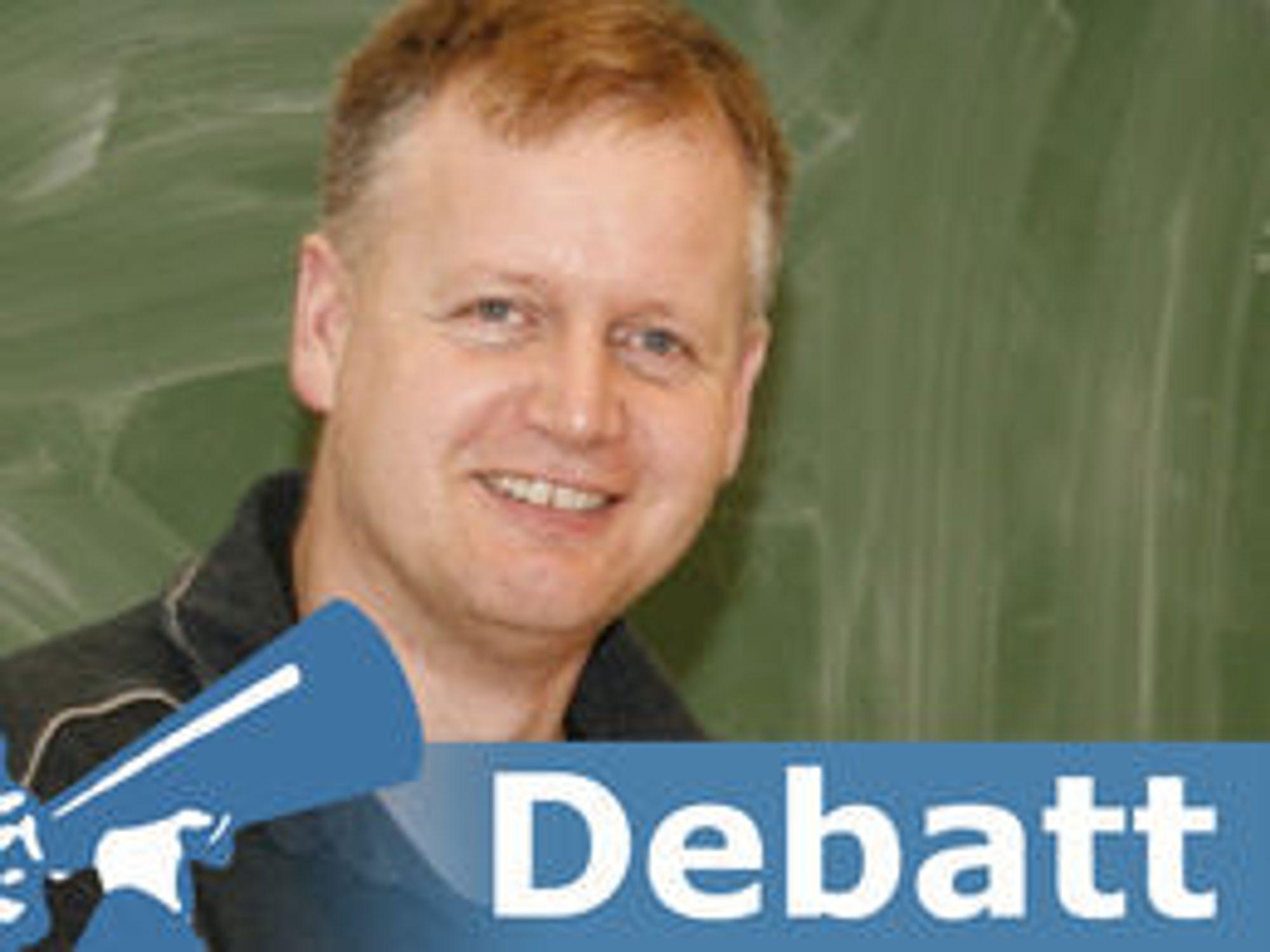 Knut Yrvin er tidligere ansatt i Qt og Nokia, men understreker at han nå uttaler seg som leder i Skolelinux.