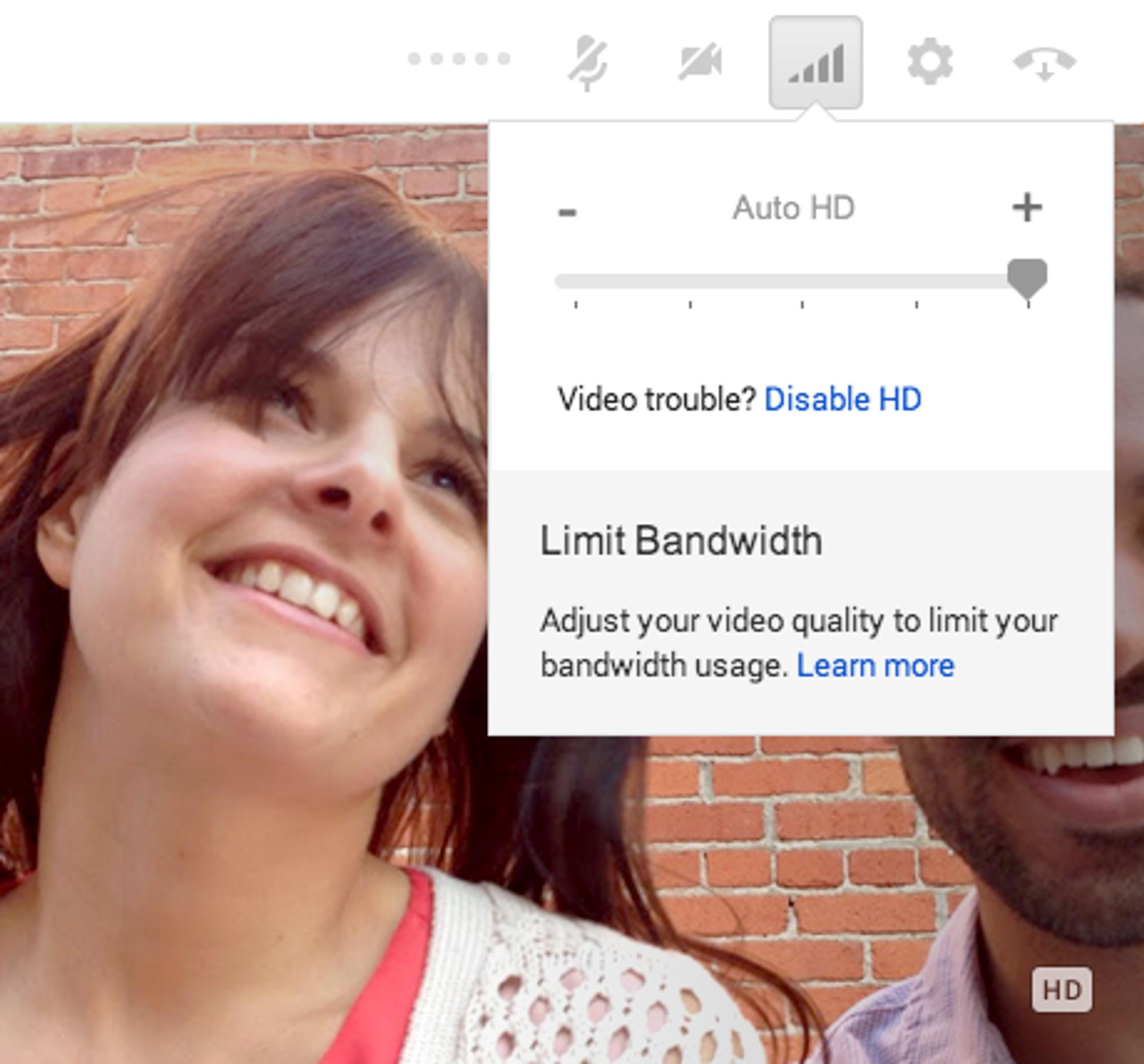 Brukeren skal selv kunne stille inn videokvaliteten til Google Hangouts.