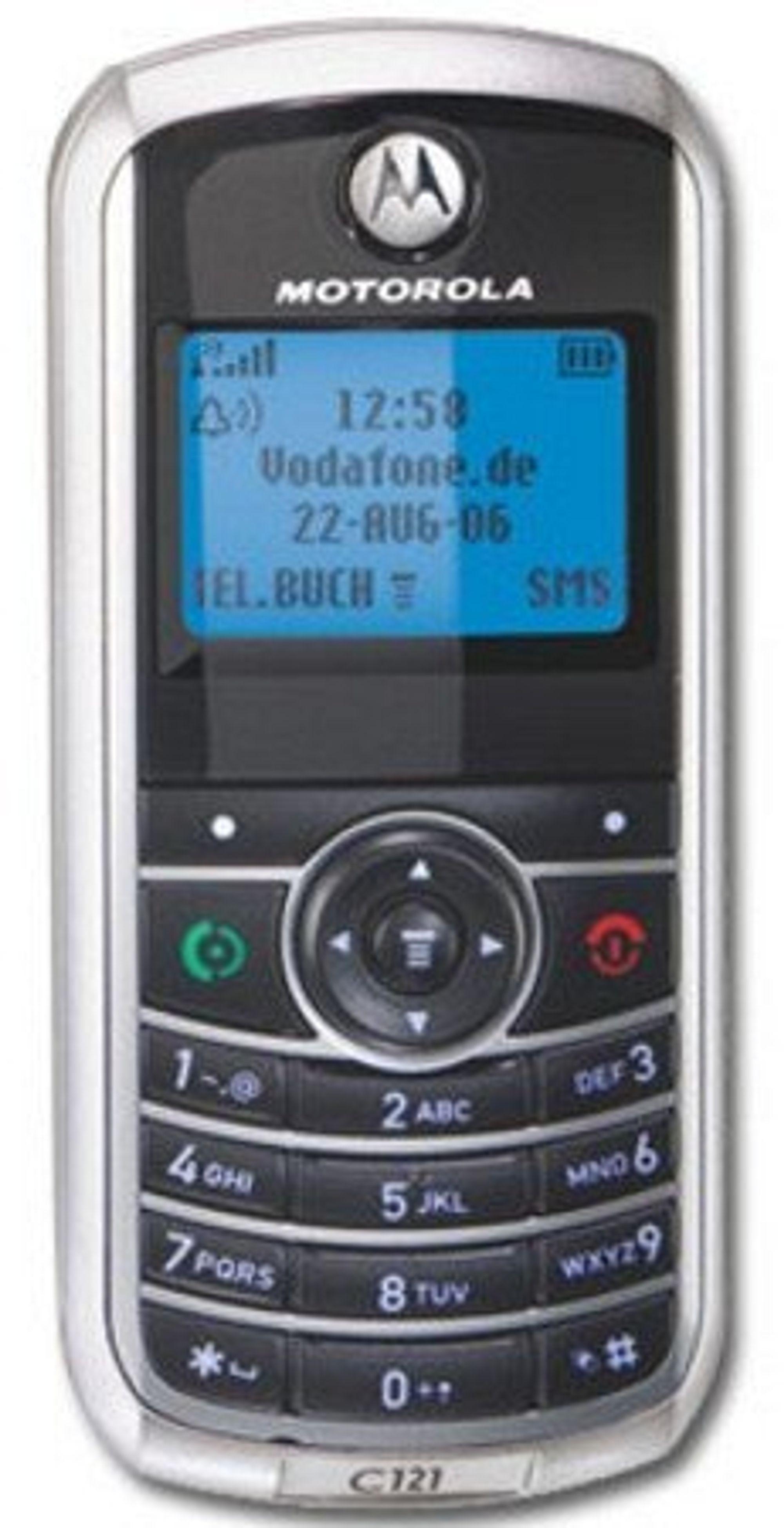Motorola C121 er blant mobilene som støttes av programvaren som forskerne har brukt.