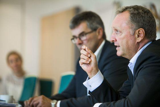 TDC-topp Carsten Dilling besøkte kontoret i Norge forrige uke. Det ledes av Ketil Kivedahl, til venstre i bildet.