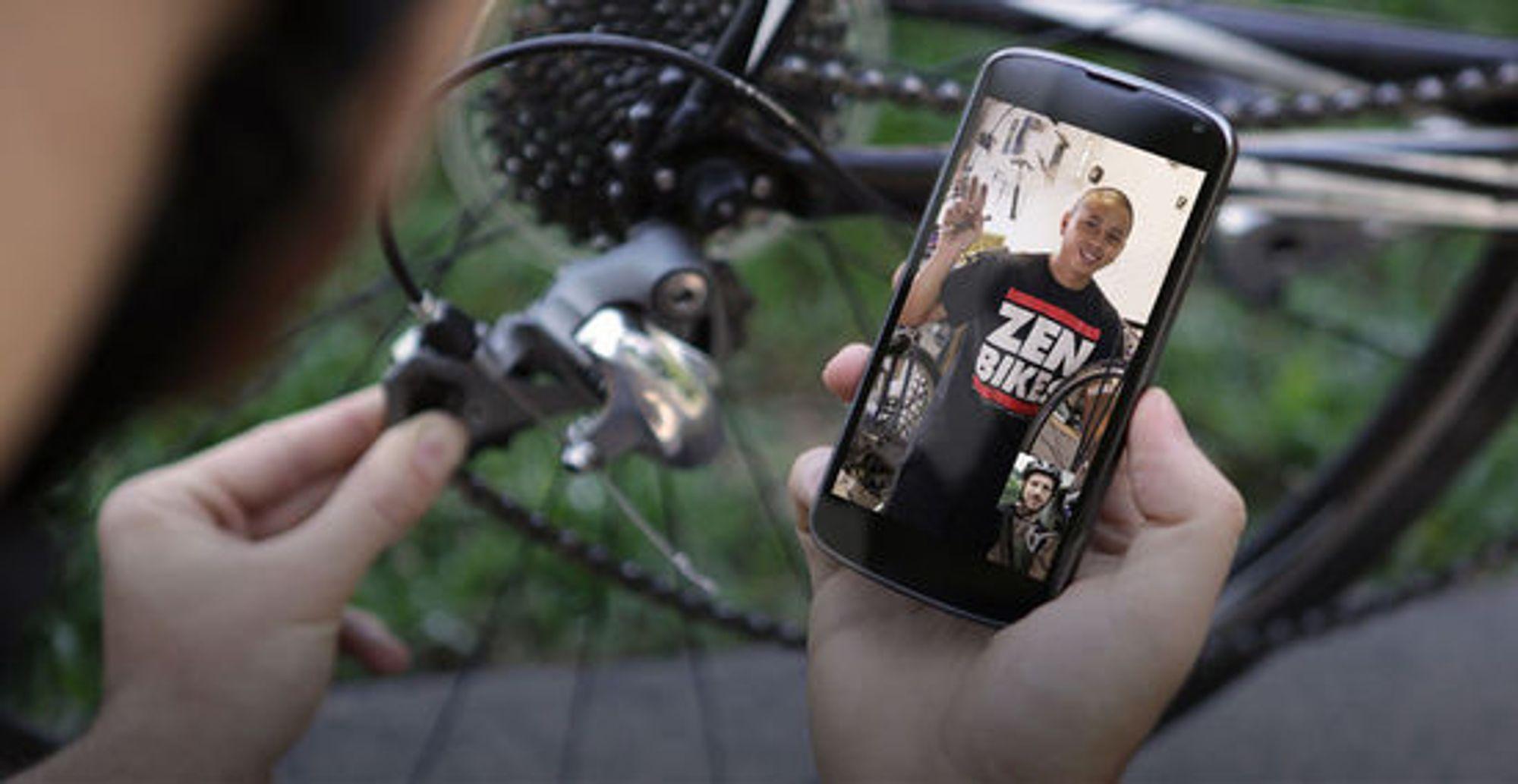 Kanskje det er billigere og enklere å få litt bistand til å justere sykkelgiret via Helpouts enn å overlate det helt til den lokale sykkelreparatøren.