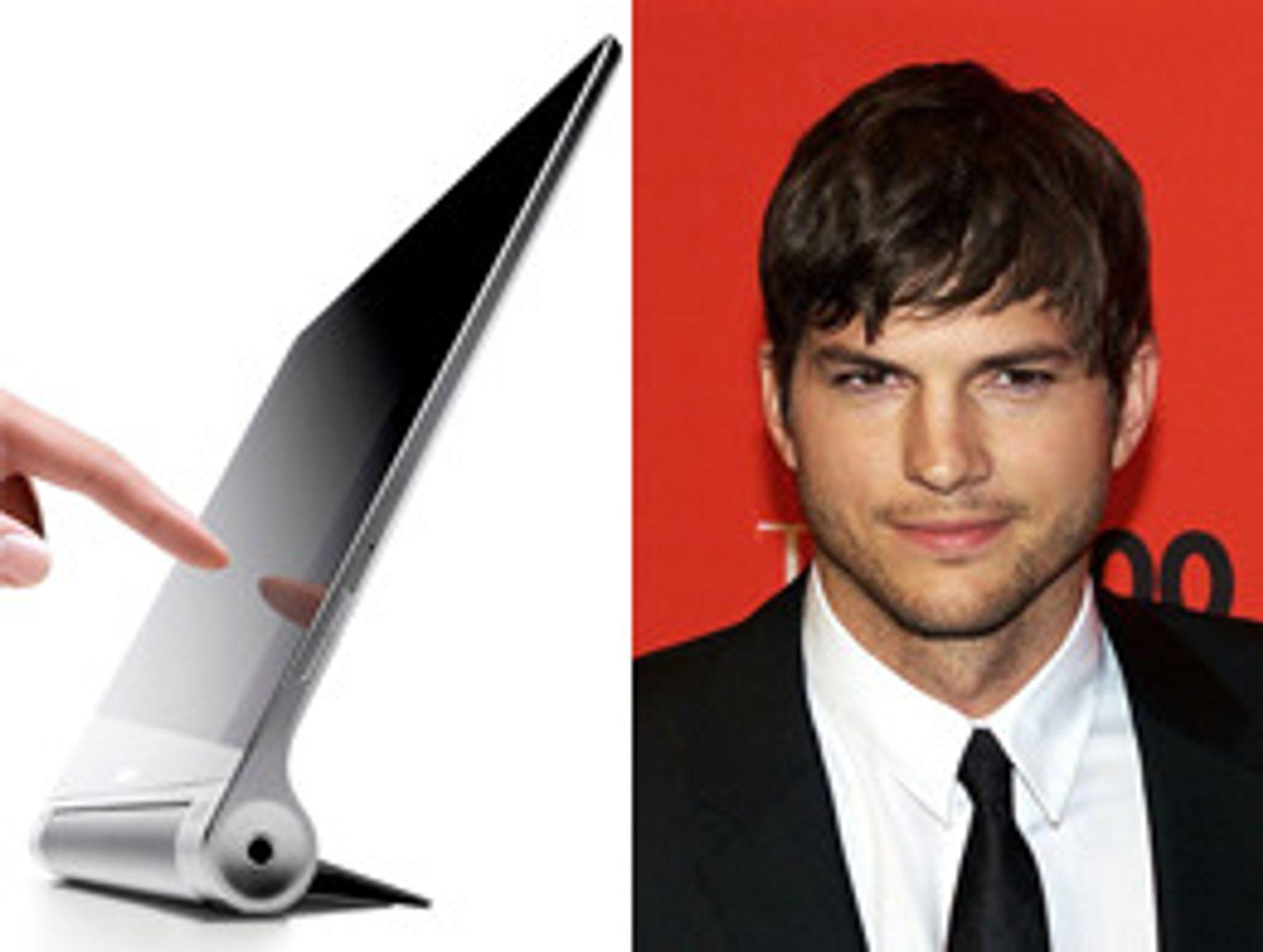 Ashton Kutcher har bidratt til designet av det ergonomisk korrekte brettet.
