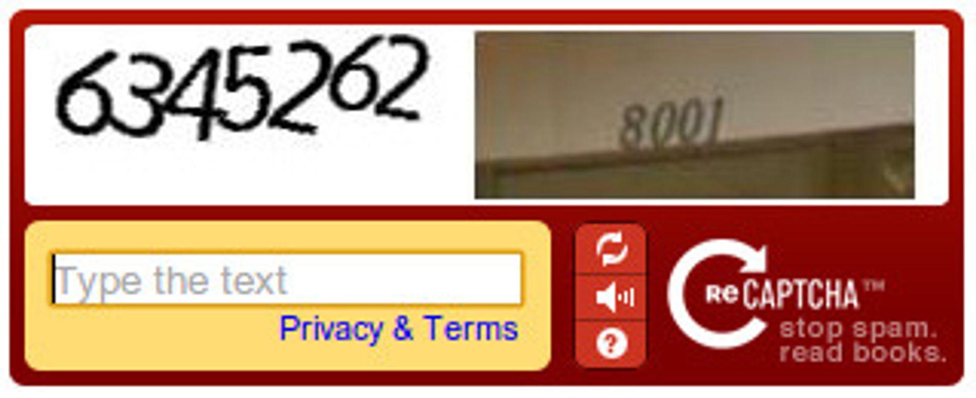 Captchaer med tall i stedet for bokstaver er helt sikkert enklere å løse enn , både for mennesker og maskiner, men ifølge Google vil maskinene aldri se denne typen captchaer fra selskapets reCaptcha-tjeneste.