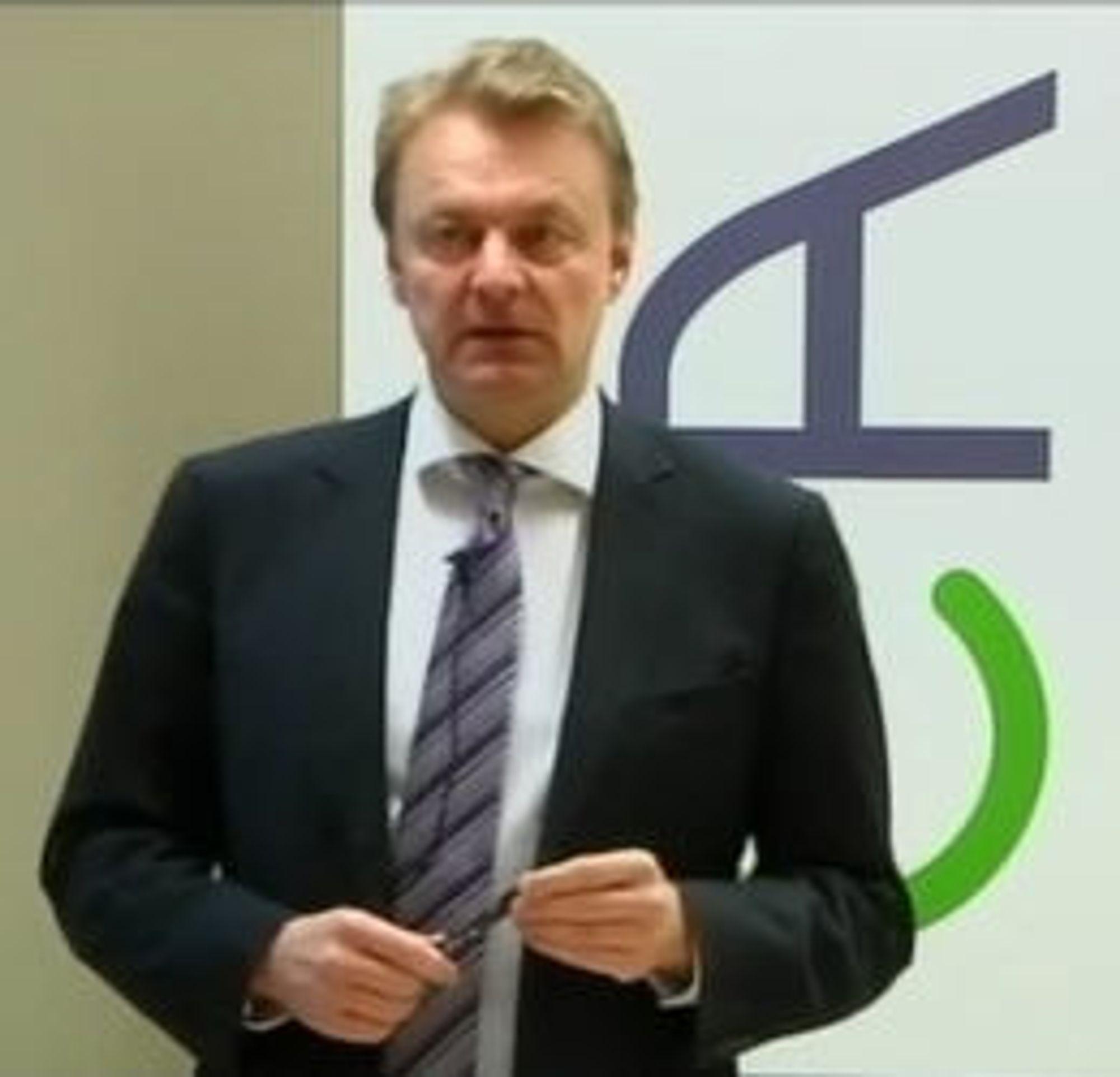 Konsernsjef Claus Hougensen er skuffet over Ateas utvikling i Norge.