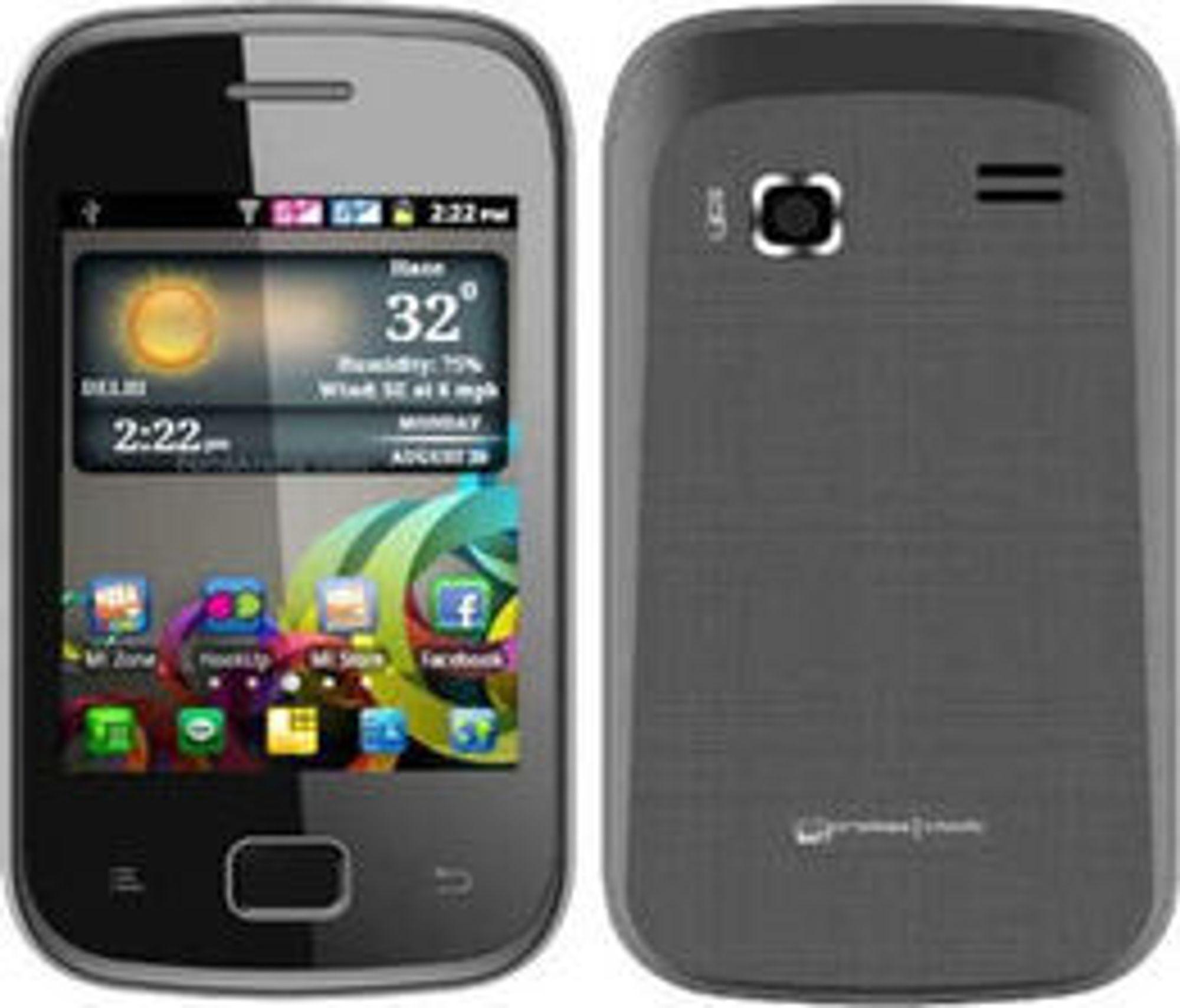 I India koster en iPhone 3GS det samme som ti Android-mobiler av typen Micromax Smarty A30.