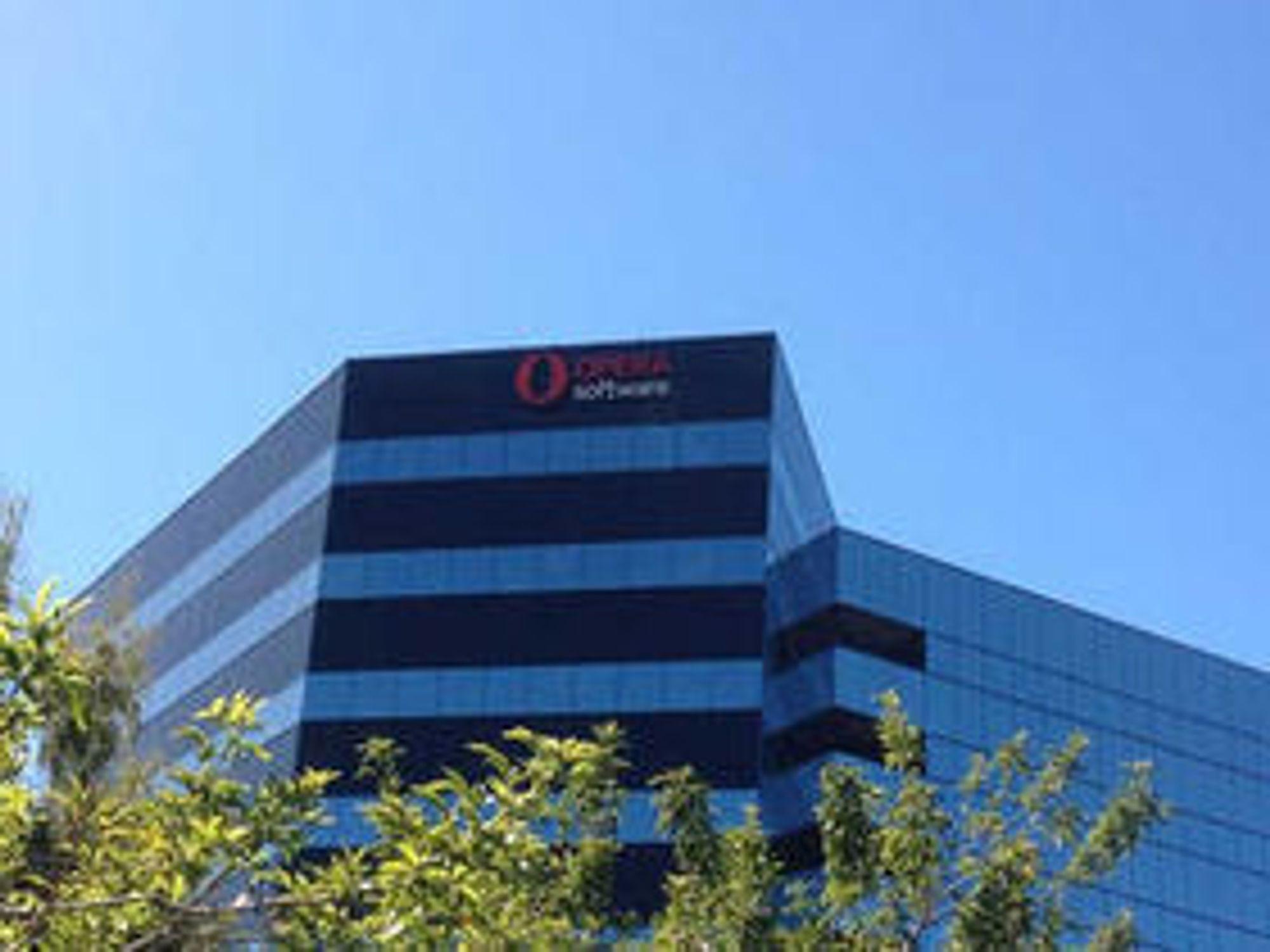 UTVIDER: Her fra Operas kontorbygg i San Mateo i hjertet av Silicon Valley.