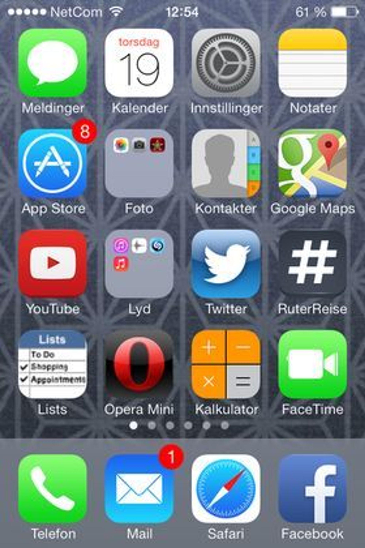 Flere hundre millioner mennesker vil fra og med i dag bli vant til dette brukergrensesnittet på sin telefon.