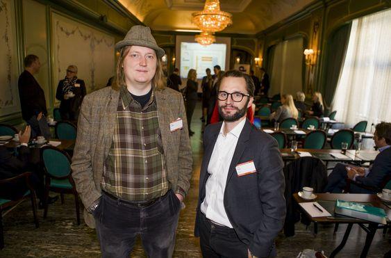 Kristoffer Lawson fra Holvi (t.h) og Sverker Ingre fra iZettle utgjør en trussel for bankene slik vi kjenner dem i dag. De deltok begge på digi.nos Toppmøte: Bank & Finans i høst.