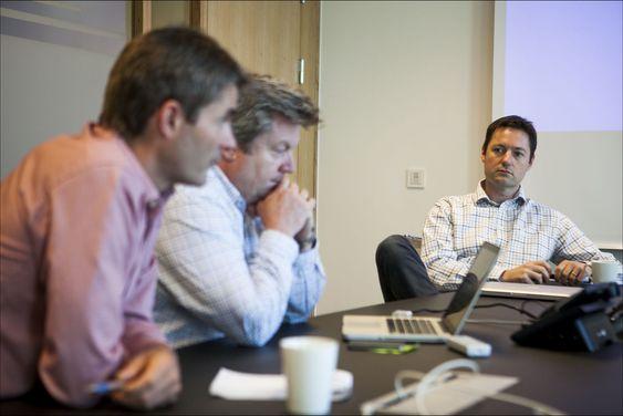 John Markus lervik (t.v),Mikal Rohde og Aleksander Øhrn var alle med å starte Cxense for tre år siden. Nå er selskapet verdsatt til over 400 millioner kroner.