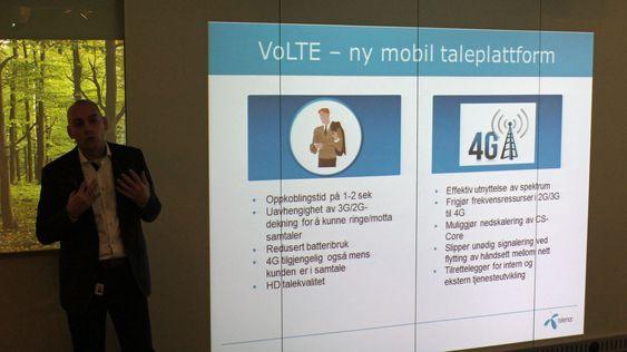 Brukerne vil merke fordelene med VoLTE, sier Telenors Bjørn Ivar Moen.