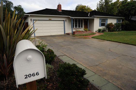 Garasjen hjemme hos foreldrene til Steve Jobs i Los Altos utenfor Cupertino.