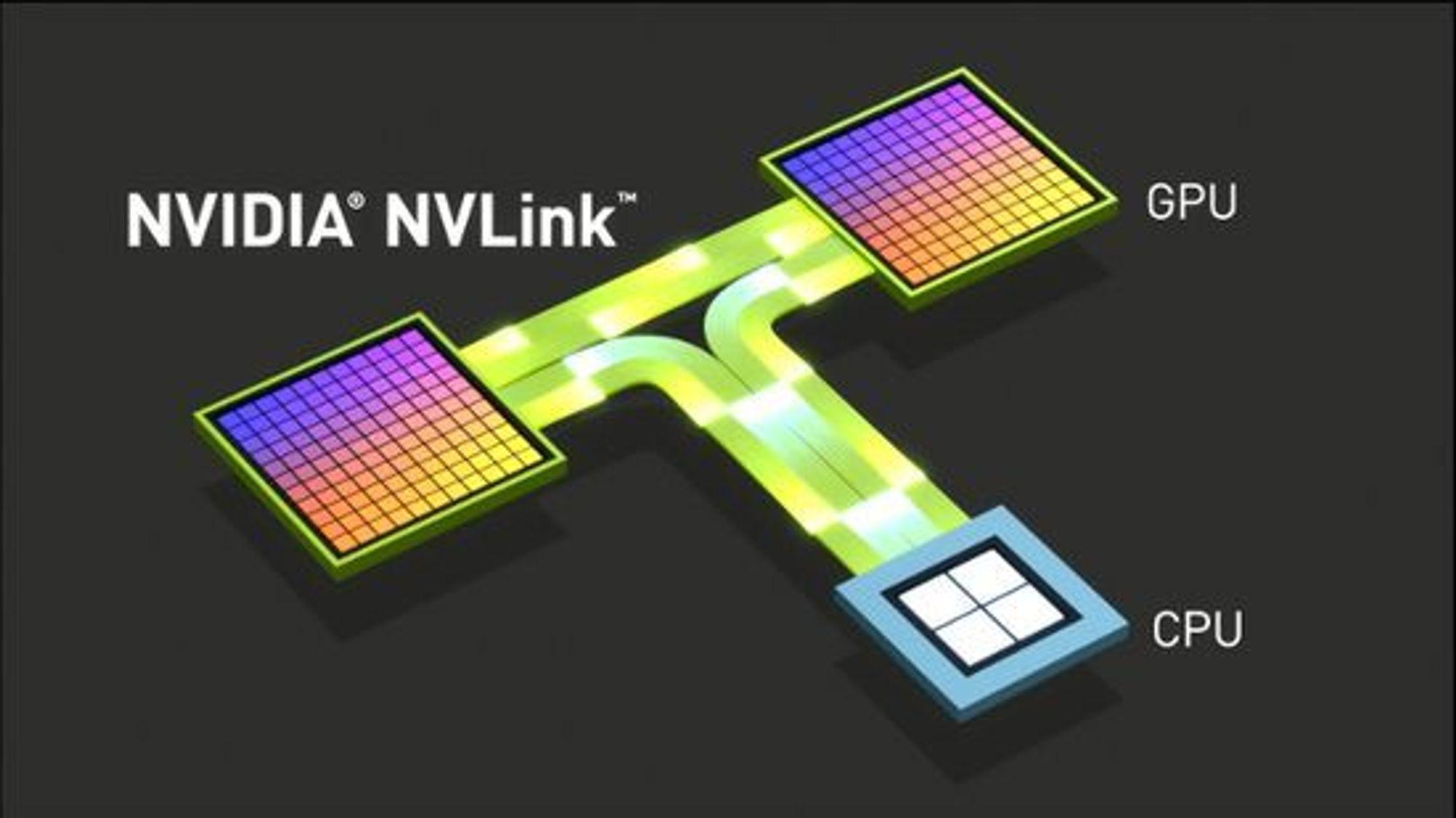 NVLink skal kunne overføre data mellom CPU-er og GPU-er opptil fem ganger raskere enn det som er mulig med PCI Express.