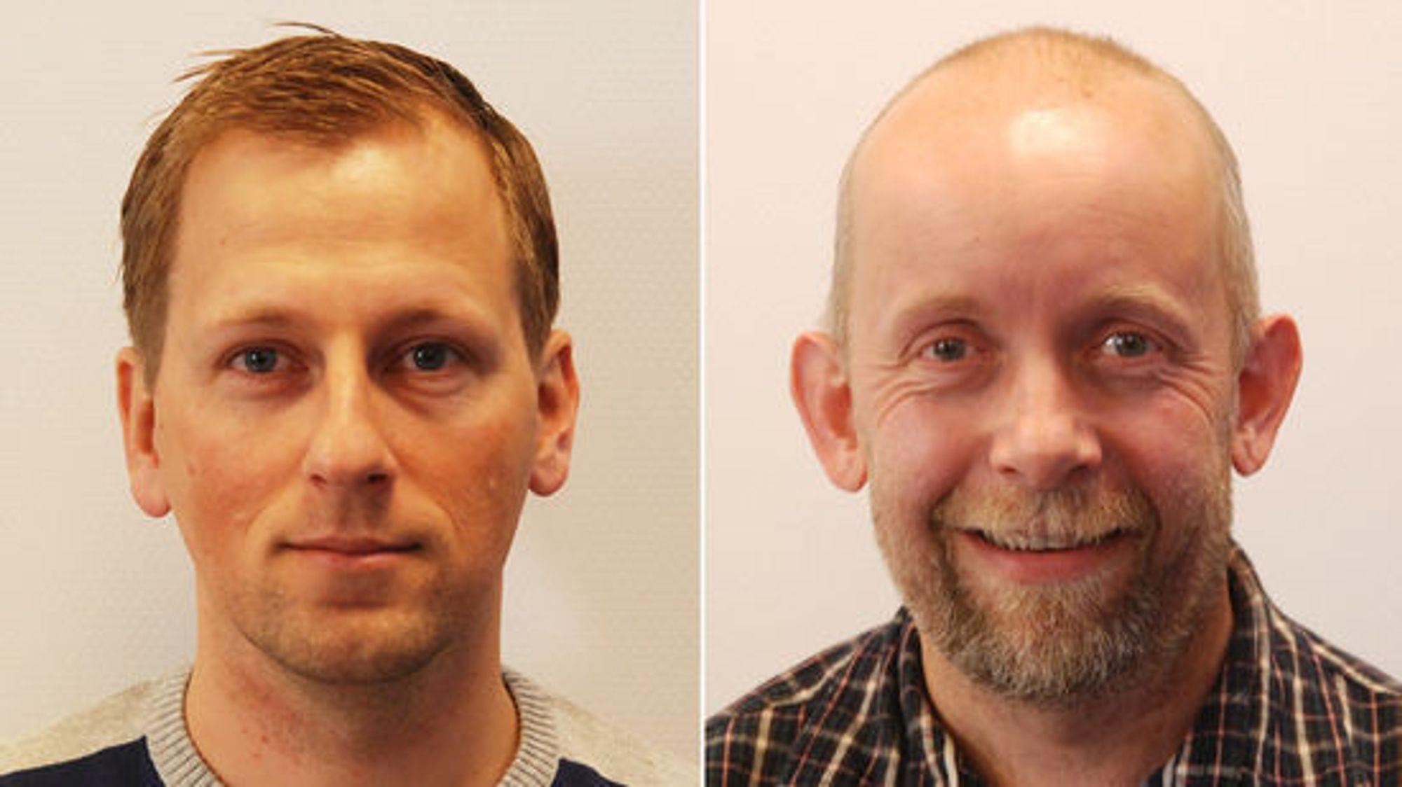 Gjermund Dahl (t.v.) og Kai-Erik Uleberg er  QA/QC-rådgivere i Norconsult AS. Gjermund Dahl er rådgivende ingeniør med 13 års erfaring med kvalitetssikring av instrumenter, utstyr, datasystemer og analytiske rutiner innen farmasøytisk industri. Kai-Erik Uleberg, PhD, har sin bakgrunn innen analytisk kjemi, og har arbeidet med kvalitetssikring innen farmasøytisk industri og som konsulent i 13 år. Han har også jobbet noen år med forskning.
