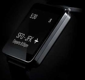 LG G Watch, LGs kommende, Android Wear-baserte smartur.